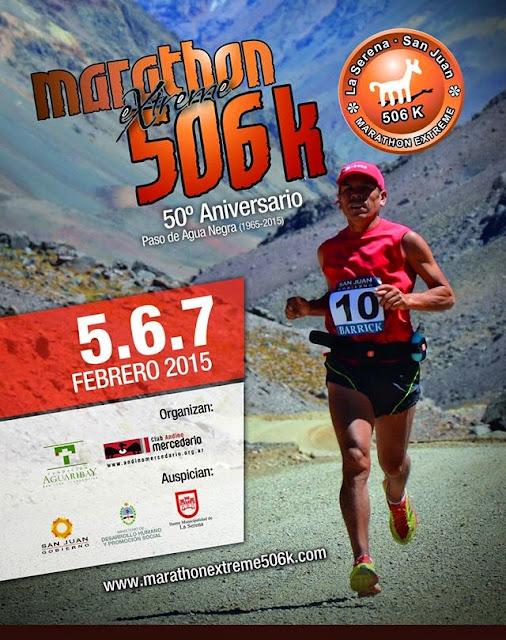 Cruce de los Andes 12x42k - 506k Maratón Extreme (La Serena a San Juan, 05a07/feb/2015)