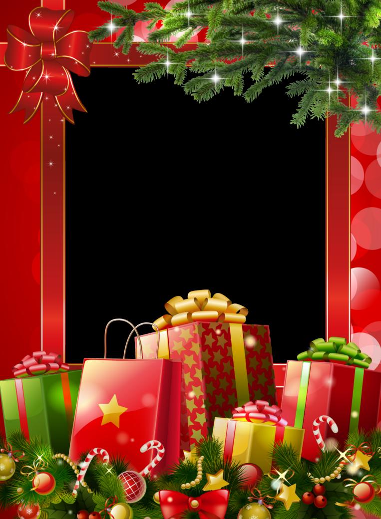 Marcos para fotograf as navide os verticales en png - Imagenes flores de navidad ...