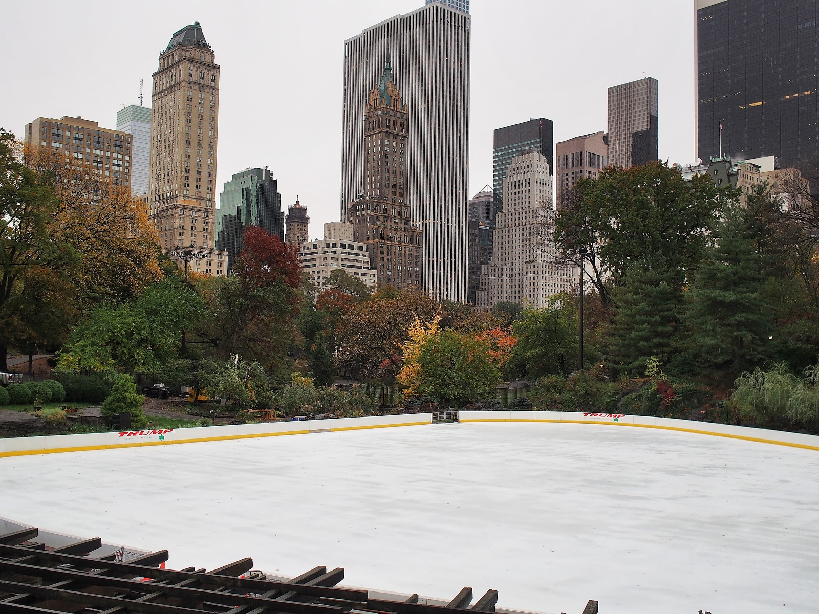 Wollman Rink on a Rainy Day, #wollmanrink #iceskating #centralpark #nyc 2014
