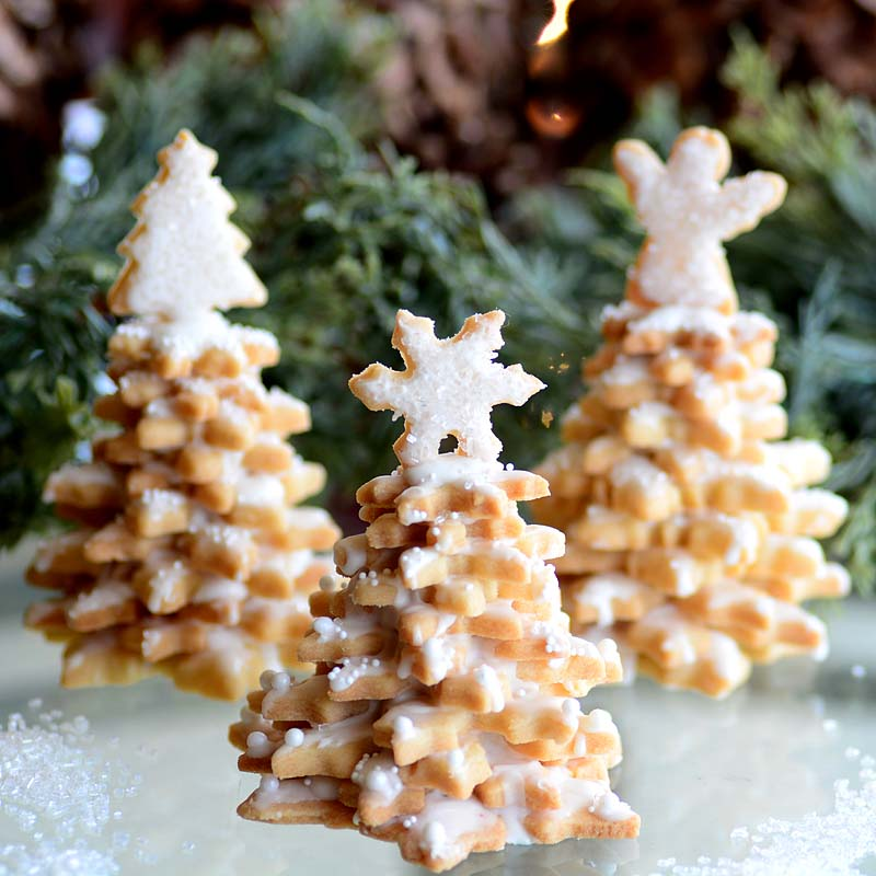 Snowflake Cookie Tree Stack