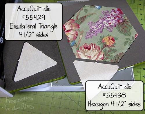 AccuQuilt dies Hexagon and Equilateral Triangle