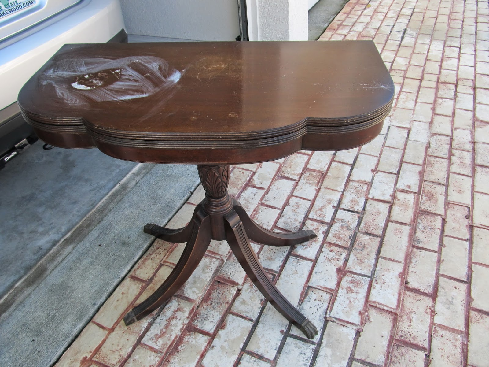 repairing table from a curb find for my dining room