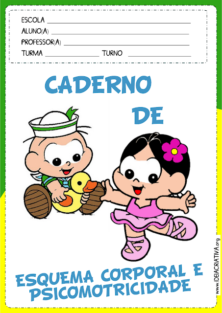 Capas para Caderno Turma da Mônica Baby