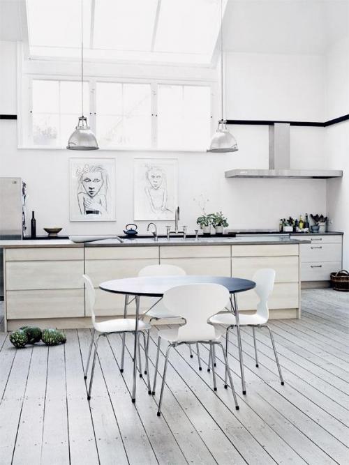 Podłoga drewniana biała