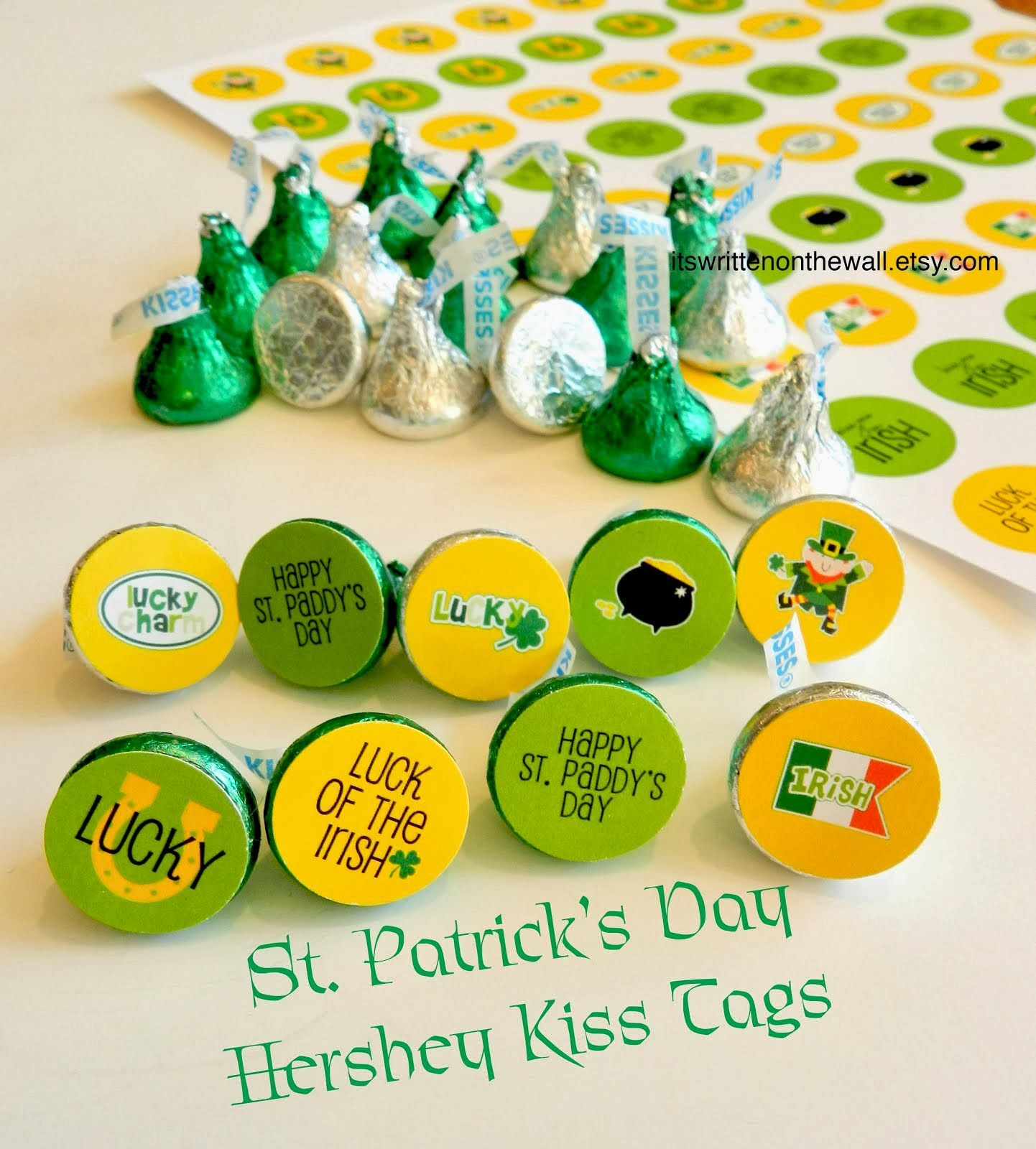 Dress up a Hershey Kiss for St. Patrick's Day