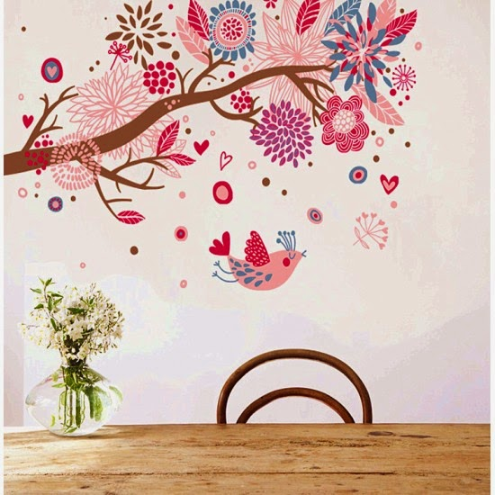 Lovely Thanks to wall art stickers I could finally decorate the walls of my new house easily and beautifully and know how much it cost me