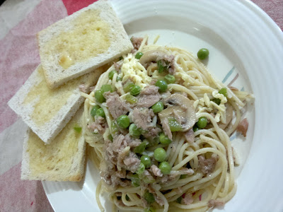 pasta, tuna
