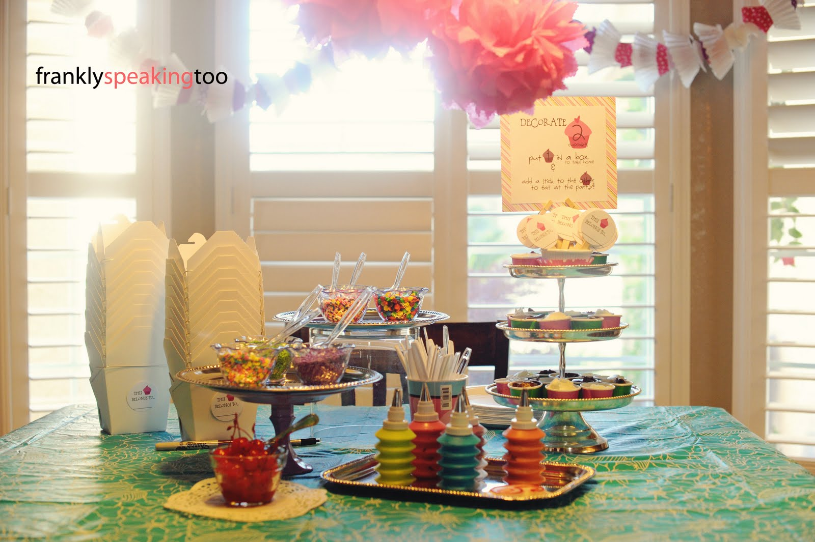 Frankly Speaking Too: Cupcake Party: Cupcake Decorating Bar