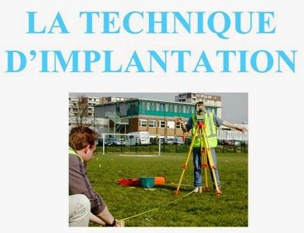 Topographie theodolite mise en station et implantation for Chaise d implantation