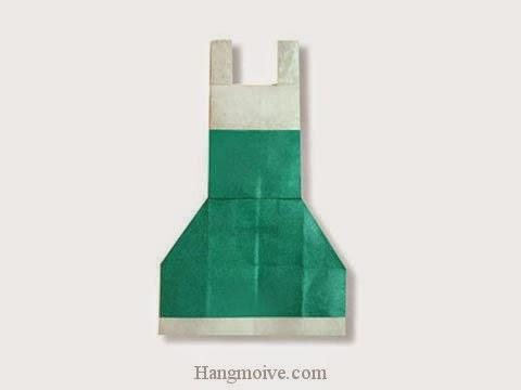 Cách gấp, xếp váy hai dây bằng giấy origami - Video hướng dẫn xếp hình quần áo - How to fold a wire dress