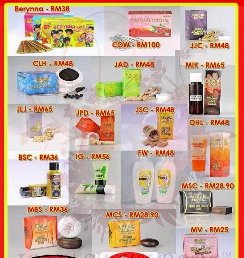 Harga Produk Jamu Susuk Dara