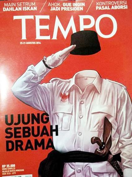 Ada Golok di Cover Majalah Tempo