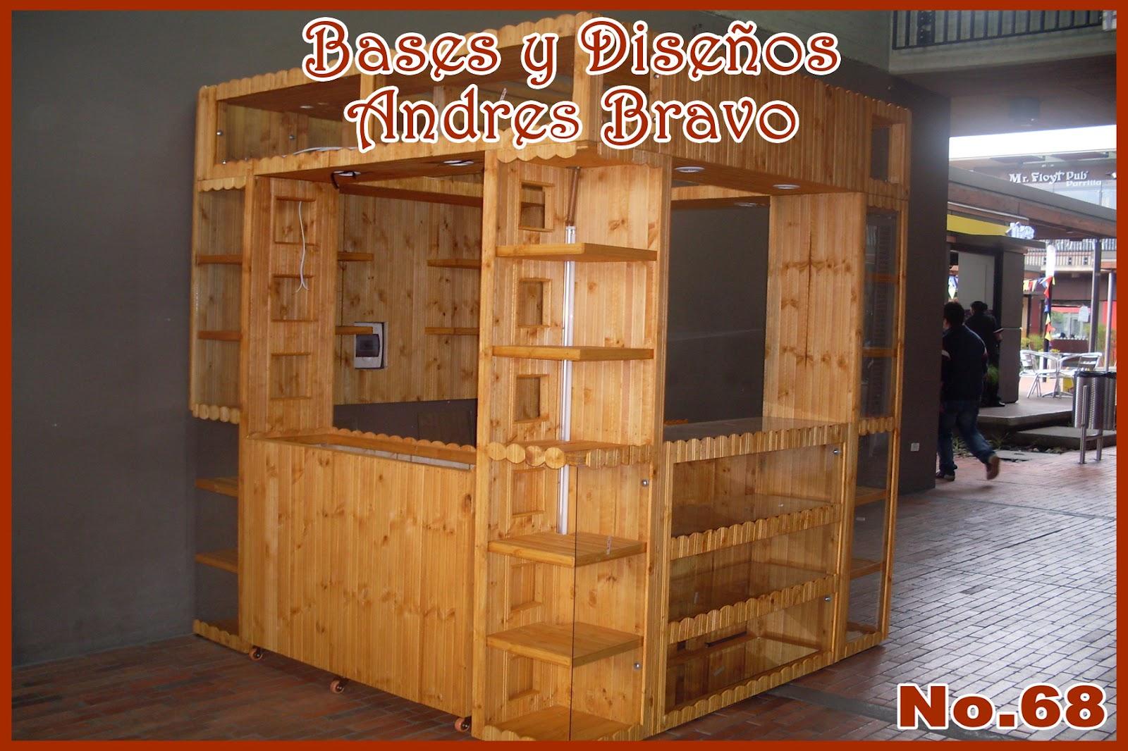 Bases y dise os andres bravo stands y o kioscos for Disenos de kioscos de madera