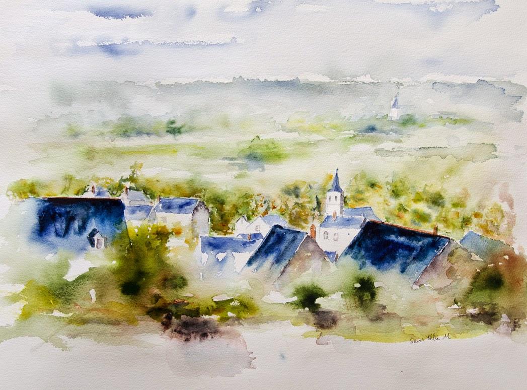 watercolor Anjou
