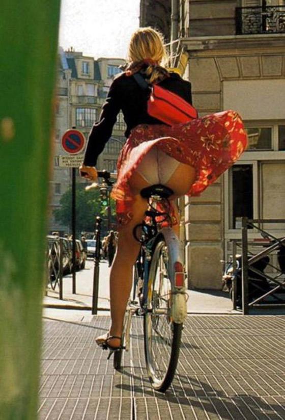 on bikes Hotties