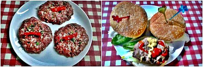 Preparación de las hamburguesas caseras