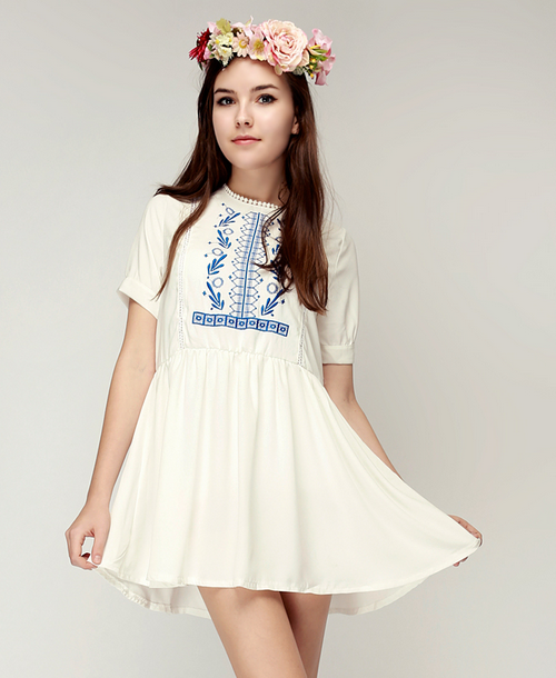 Natalie Embroidered Dress