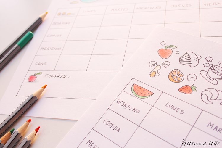 Planificador de menú semanal infantil