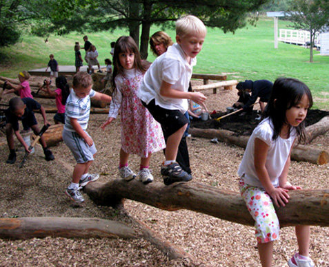 Children nature play ut study natural playgrounds more beneficial to children inspire more play - Natural playgrounds for children ...
