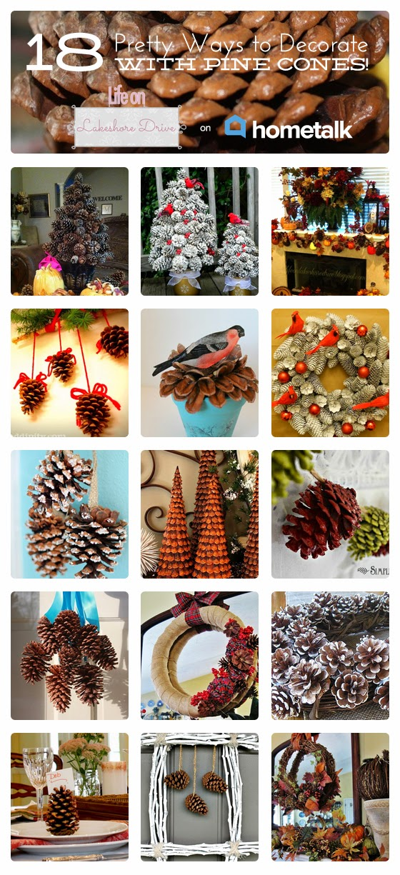 pine cone crafts on Hometalk      Life on Lakeshore Drive
