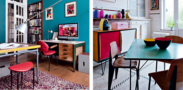 Design Attractor Colorful Retro Interior In Brussels