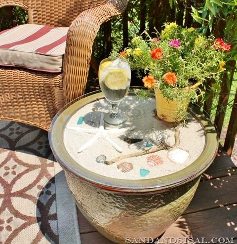 planter pot side table