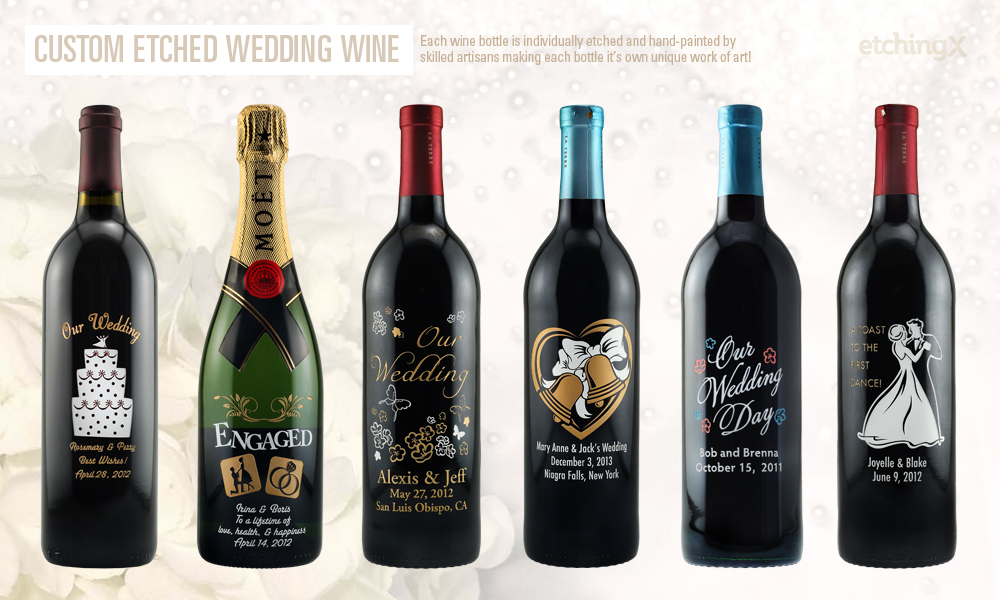 Personalized Wedding Wine Bottles