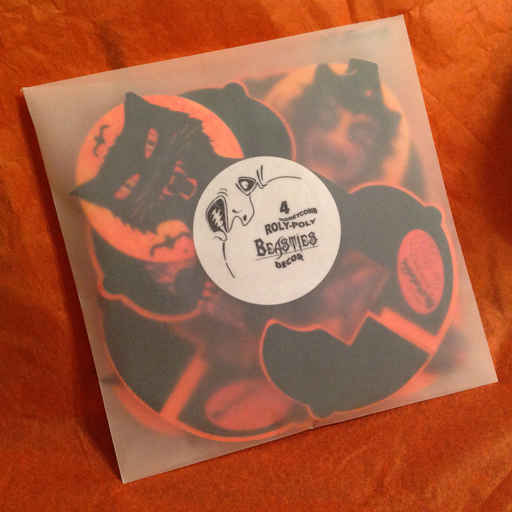 Vintage halloween paper decorations - Black Cat And Witch Seen Peering Through The Envelope Of A Limited Edition Package Ready