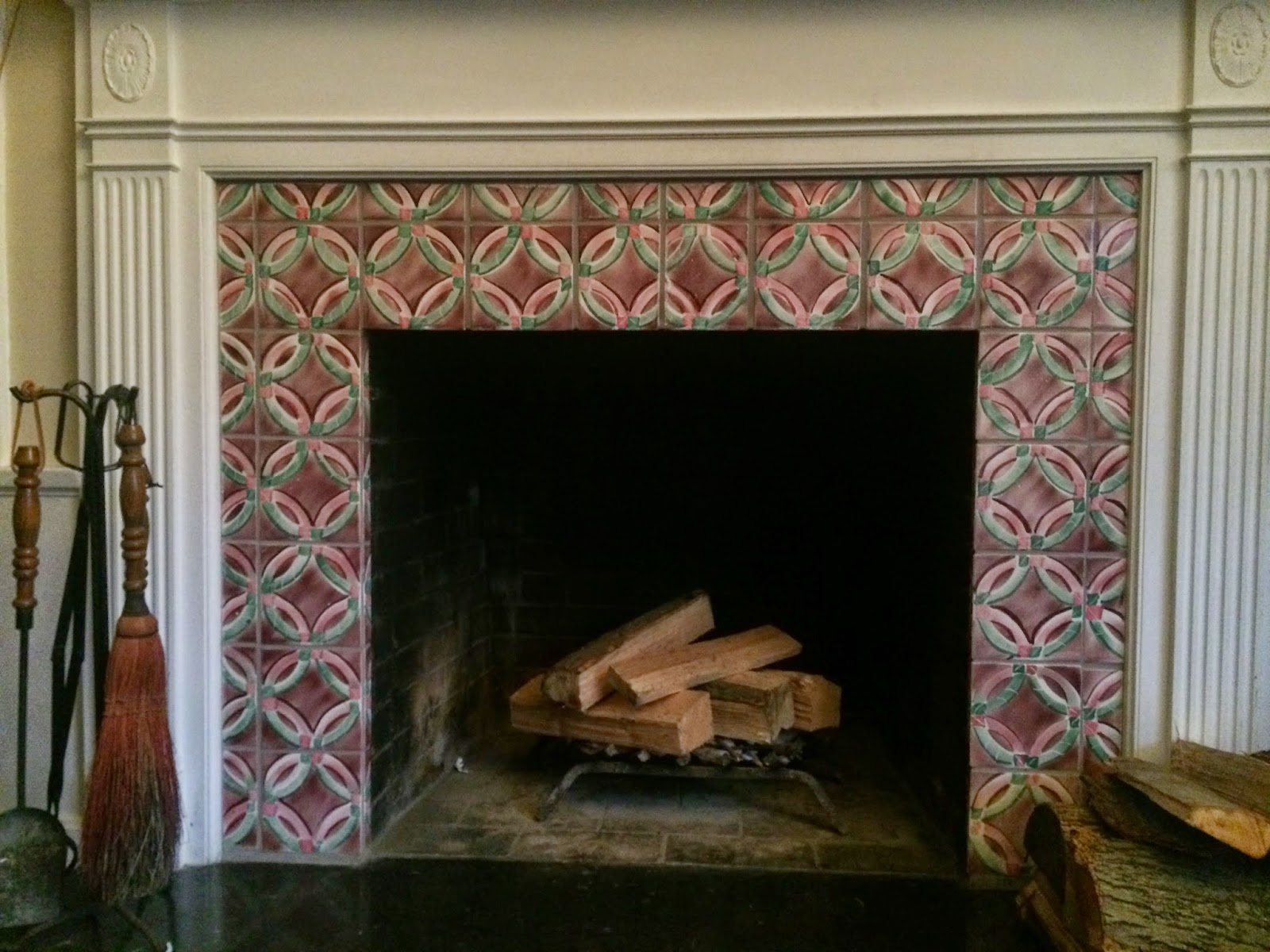 Amish Quilt Pattern Ceramic Tile Fireplace Surround ...