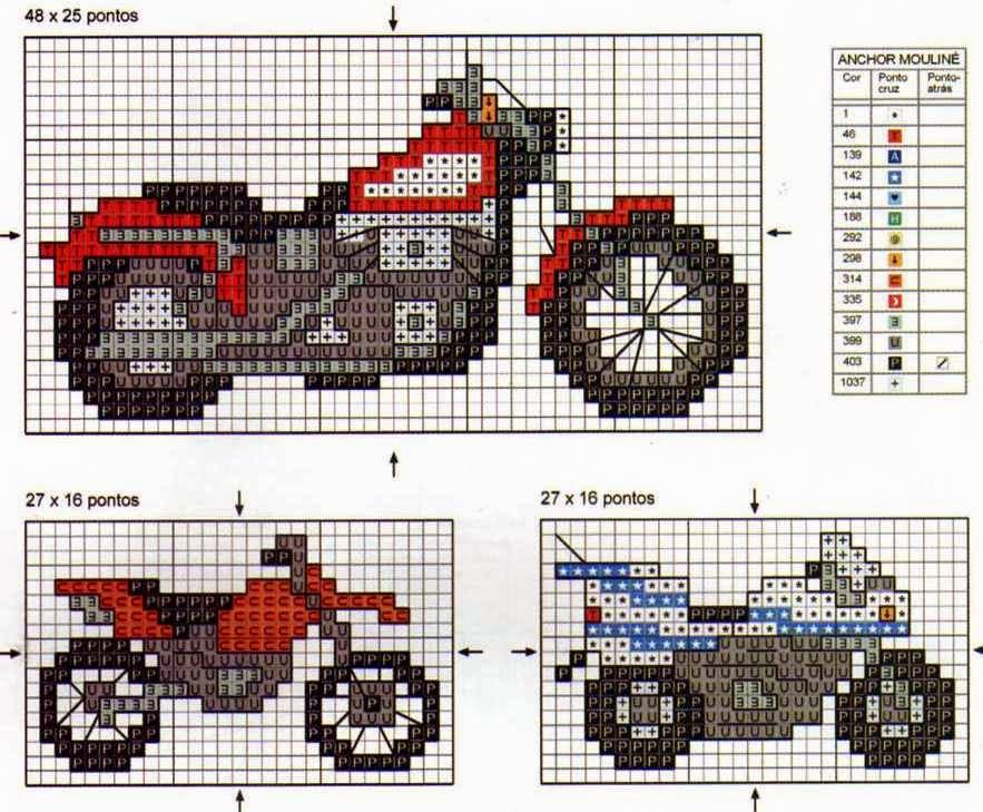 Вышивка мотоциклист схема 81