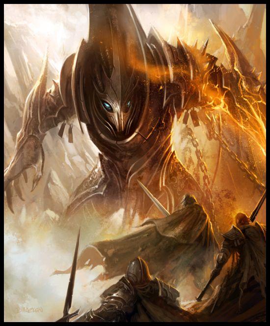 mike lim daarken ilustrações fantasia medieval violência batalhas monstros arte conceitual video games Demônio desacorrentado
