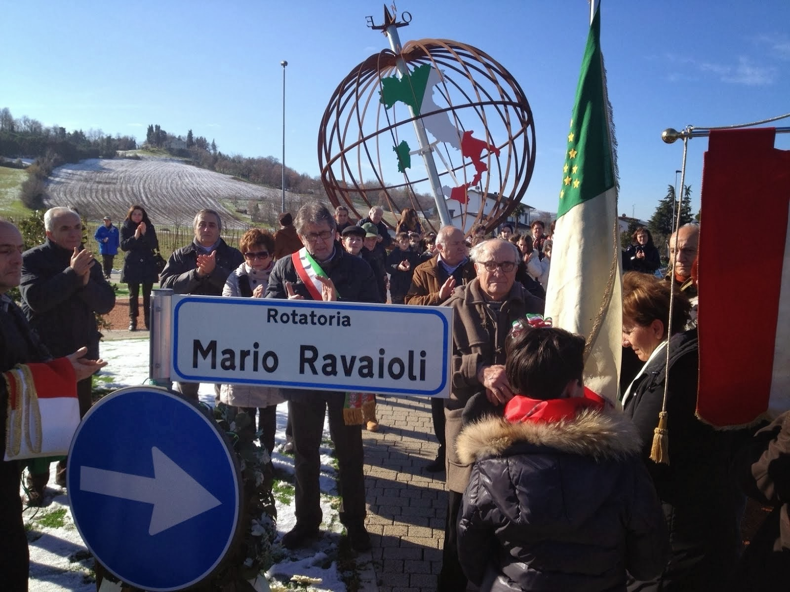 Intitolata una Rotonda a Mario Ravaioli