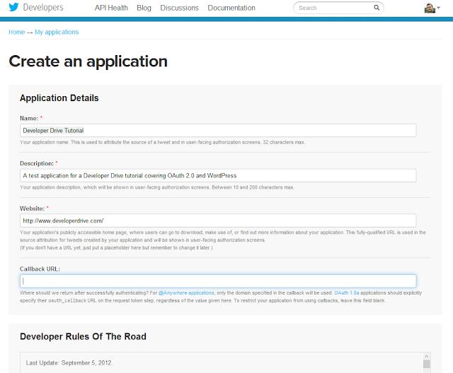 OAuth2 and the Twitter API – A WordPress plugin