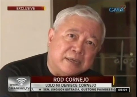 Rod Cornejo, Deniece grand uncle