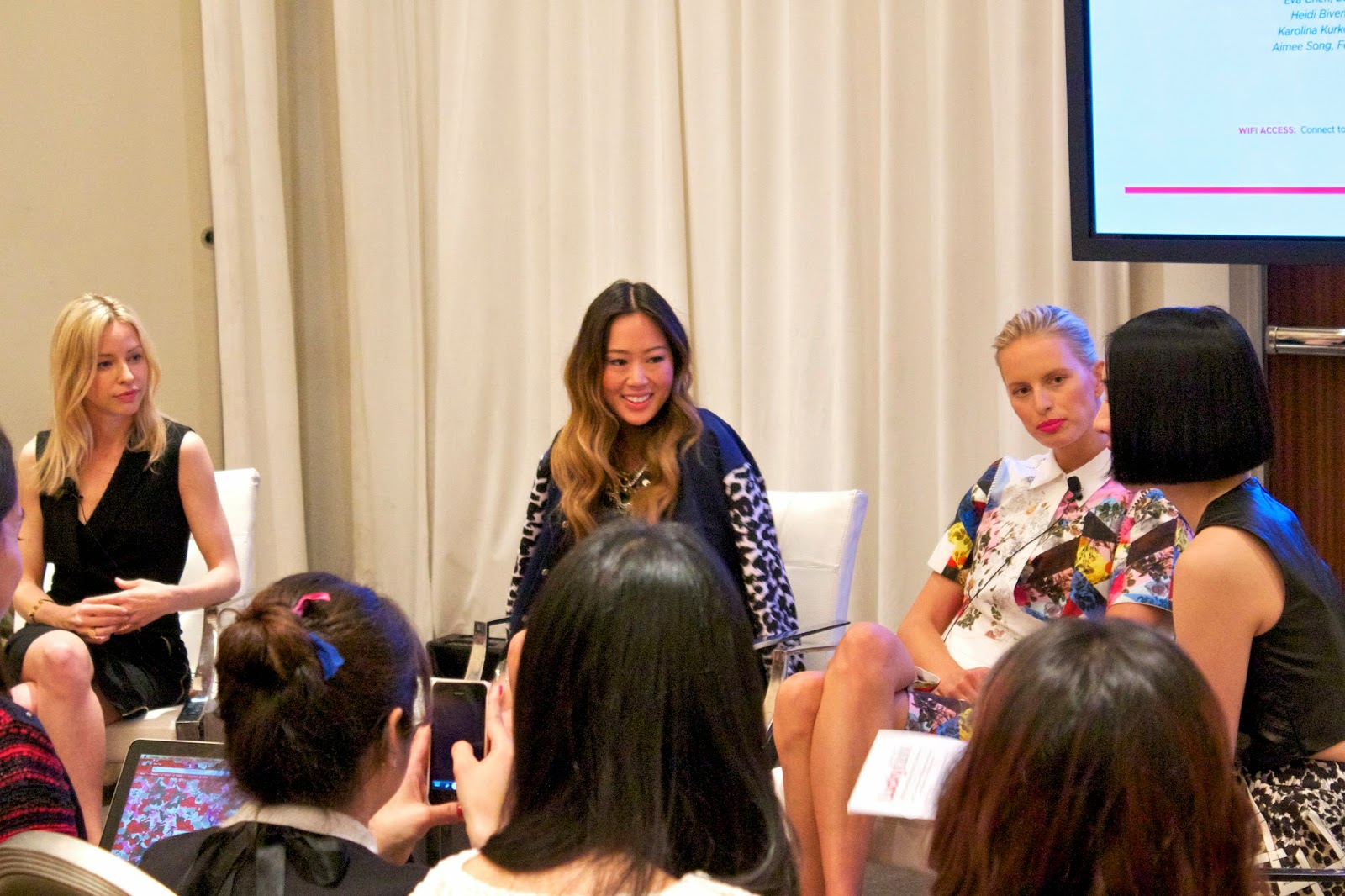 Aimee Song at LuckyFabb, Karolina Kurkova at LuckyFabb, Heidi Bivens at Luckyfabb