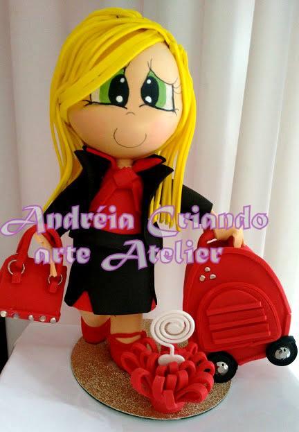 boneca fofucha aeromoça