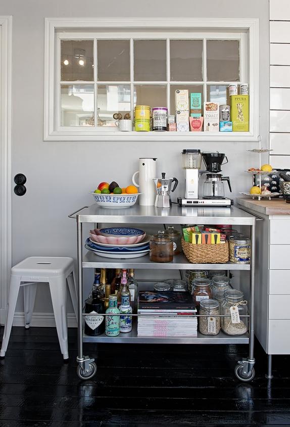 Menaje a la vista para decorar cocina