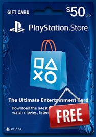 Free PSN 50$ Gift Card