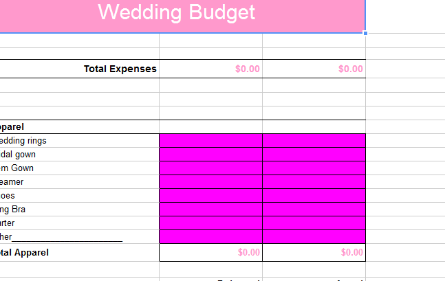 Budget Guest List and Reply Wedding Shower Guest List/Gift Tracker ...