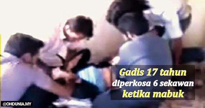 Keghairahan berparti, gadis 17 tahun diperkosa 6 sekawan ketika mabuk