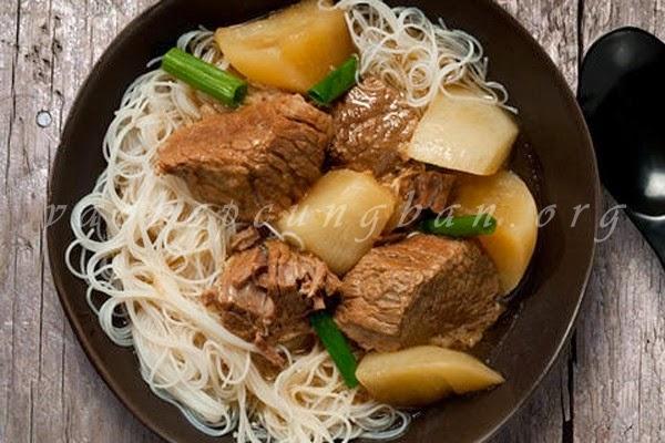 Cách nấu món thịt bò om củ cải cho ngày mát trời