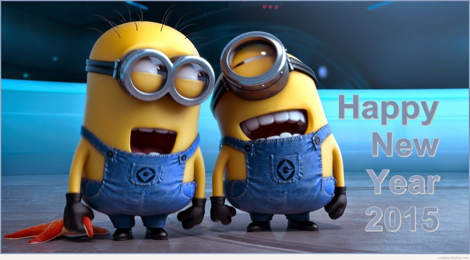 Happy New Year Minion wallpaper for kids