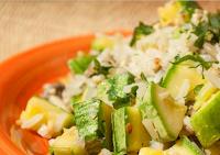 Arroz com Cogumelos, Abobrinha e Castanhas (vegana)