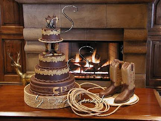 country wedding cake topper