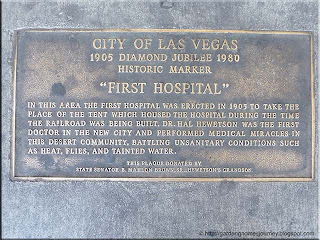 City of Las Vegas First Hospital Historical Plaque