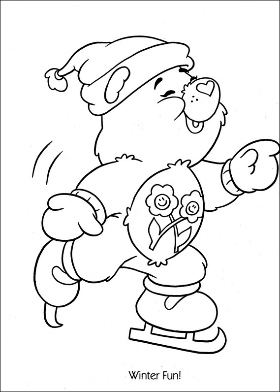 care bear coloring pages christmas - photo#2