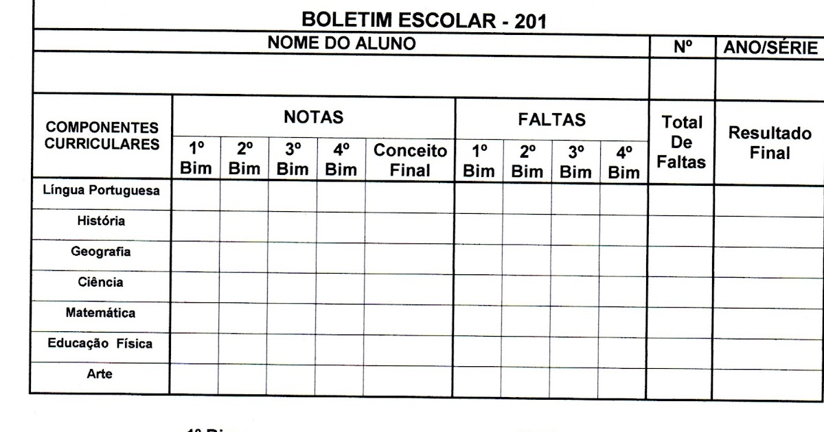 Extremamente ADOLETÁ DO ABC: Boletim Escolar OQ12