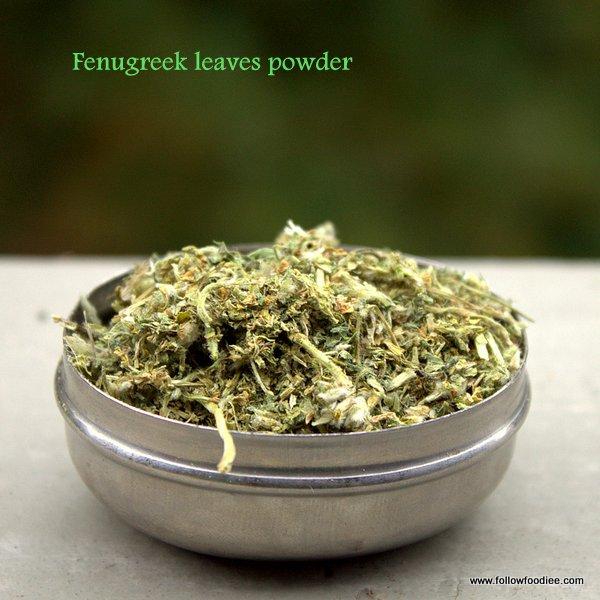 Kasoori Methi Leaves Powder Recipe