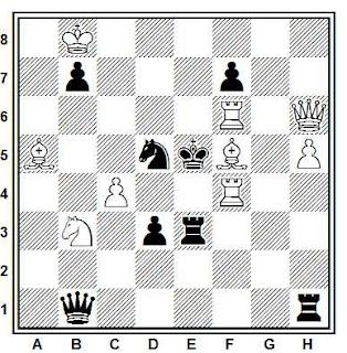 Problema de mate en 2 compuesto por Peter Gvozdjak (Torneo Olímpico, Sotchi 2014, 1º Premio)