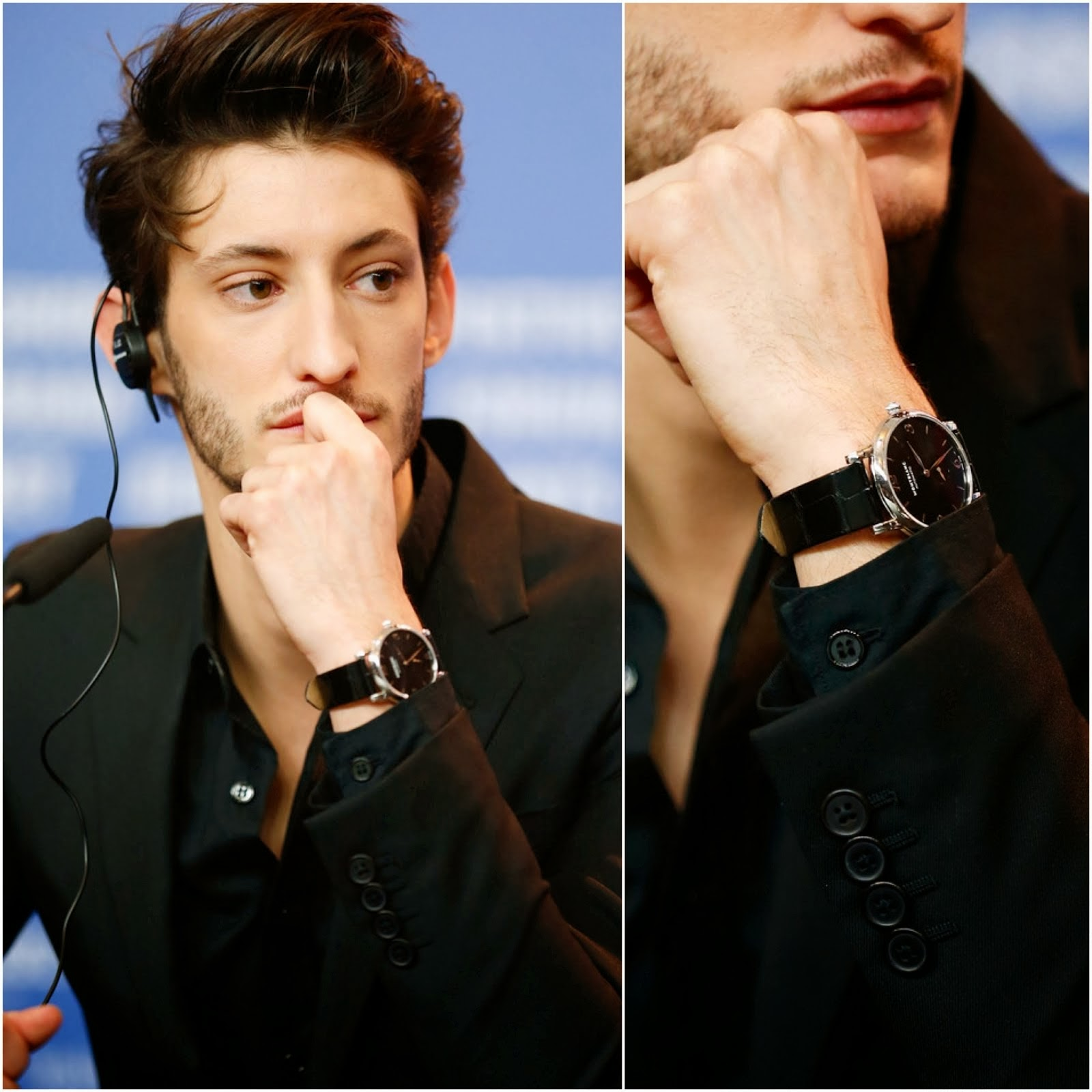 Pierre Niney's Montblanc Star Classique Timepiece - 64th Berlinale International Film Festival